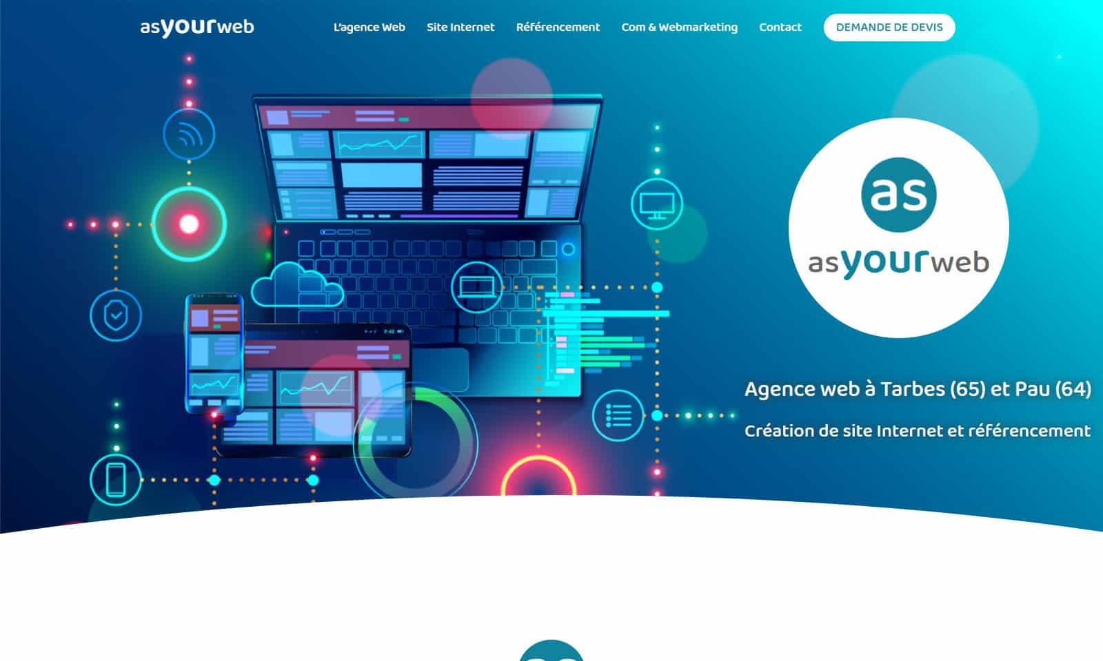 Mise en ligne du nouveau site Internet Asyourweb