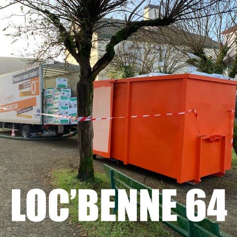 Loc'Benne 64, location de benne à déchets pour particuliers et professionnels à Pau (64) et alentours